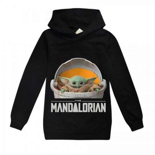 Baby Yoda The Mandalorian Hooded Blouse Kids T Shirt Girls Shirt Teenage Boys Long Sleeve Tops Toddler Boy Graphic Tee