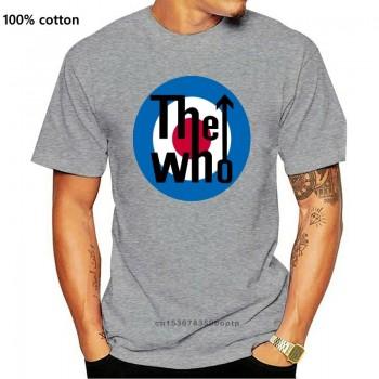 Fm10 Men T-Shirt The Who Rock Band Logo Music Round Neck Tee Shirt