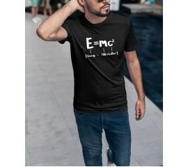 Funny Math Energy Equal Milk Add Square Coffee Theory of Relativity Tshirt Casual Short Sleeve Mens T-shirt Fashion Cool T Shirt