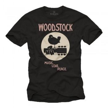 Makaya Mens Vintage Music T Shirt   Woodstock Black S XXXXXL