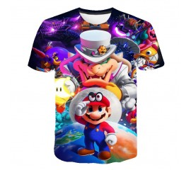 Mario SuperMario Short Sleeve 3D T-Shirts For Boys Girl Tops Kids Clothing TShirt Size 3-15 Years Baby Clothes Tee 2020 new