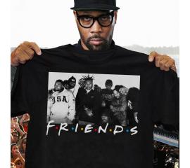 New Streetwear Camisetas Wu-Tang Clan Friends TV Show T-Shirt Vintage Gift For Men Women Hip Hop T Shirts  Clothing