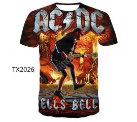 New Style T shirt Funny Leisure Tshirt Tshirts Men AC DC 3D Printed Summer Brand T-shirt Men's fashion