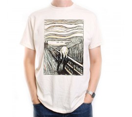 Old Skool Hooligans Art Originals Edvard Munch T Shirt The Scream Litho Version New Unisex Funny Tops Tee Shirt