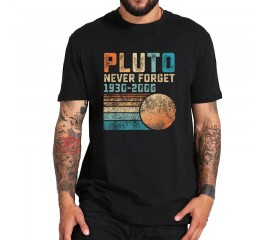 Pluto Never Forget T Shirt Vintage Funny Astrological Lover Dwarf Planet Tshirt 100% Cotton Soft Basic Tee Tops