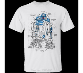 Printed Men T Shirt Summer Cotton Tshirt R2D2 Plan Tees O-Neck Short-Sleeve Women T-Shirt Funny Harajuku
