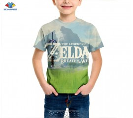 SONSPEE The Legend of Zelda Breath of the Wild Kids Children T-shirts Casual Harajuku Short Sleeve Clothes Boys/Girls Tees Tops