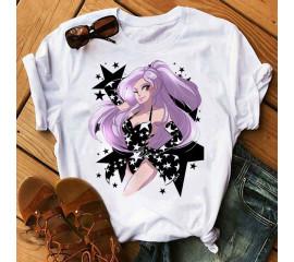 Shirts Women 2021 Summer Woman T-Shirt Kawaii T-shirt Sexy Girl Harajuku Vogue Top Graphic Tees Unisex Funny Tops Tees Female