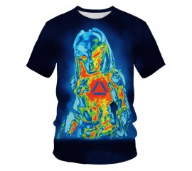 Summer Hot sell science fiction thriller Predator series men's T-shirt 3D print cool casual short sleeve top breathable Tshirt