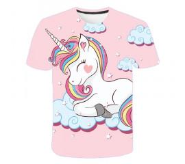 girls 3D unicorn Print T-shirts cute unicorno tshirt Girls NEW Summer Tees Top Clothing Children cartoon Clothes Casual xxx teen